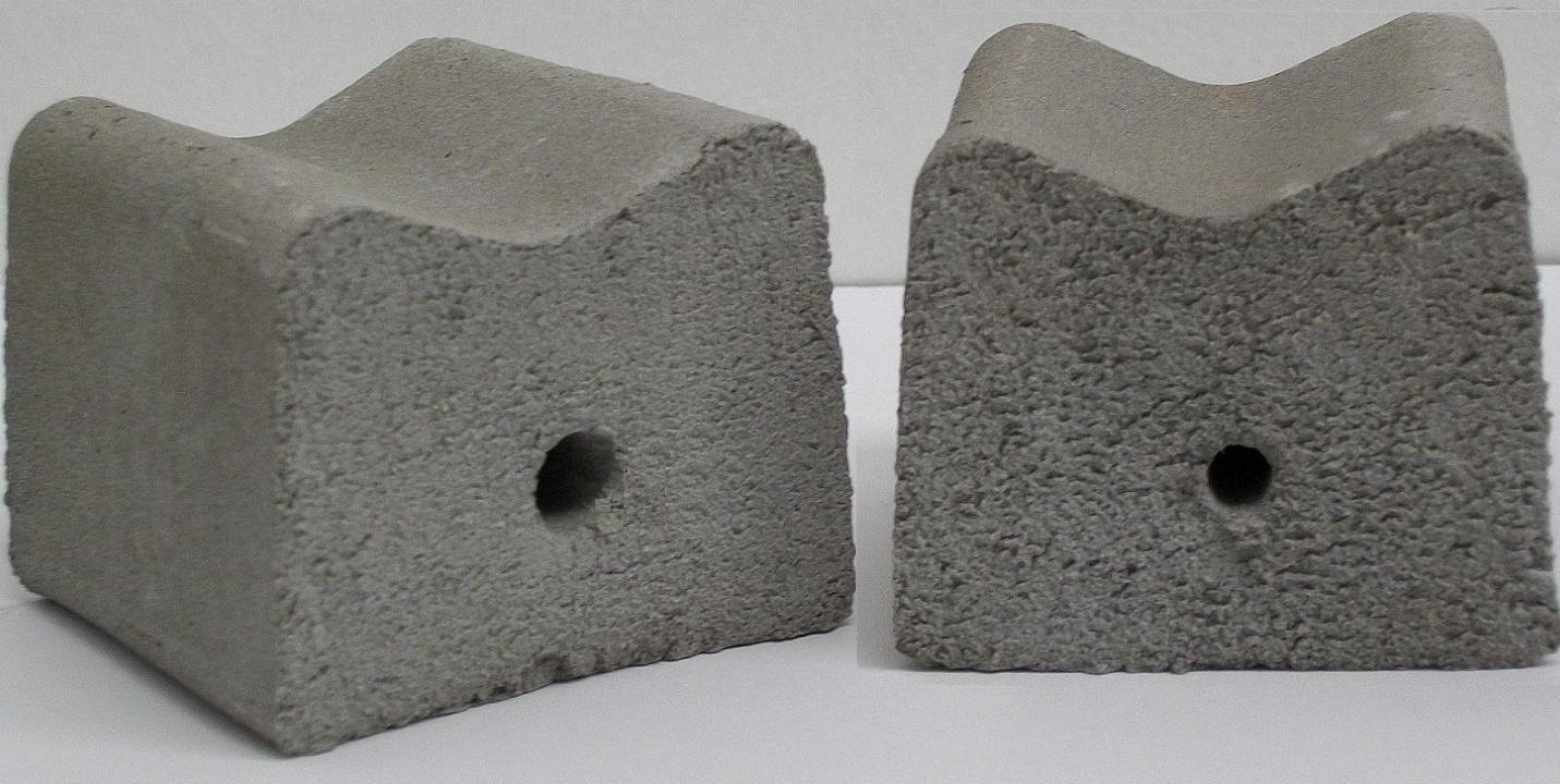 Fibre cement spacers or cover blocks, espaçadores de vergalhão de fibrocimento